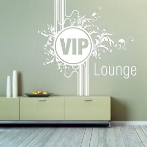 Wandaufkleber ganz individuell. VIP-Lounge